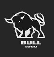 angry bull monochrome logo vector image