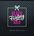 black friday sale web banner background vector image