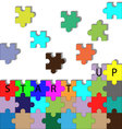 Building startup puzzle vector image