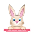 Bunny wishes Happy Easter vector image vector image