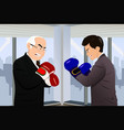 business concept of two businessmen fighting vector image
