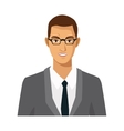 businessman with glasses manager work employee vector image