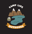 camping badge design outdoor logo vector image vector image