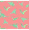 Cartoon dinosaurs pattern vector image vector image