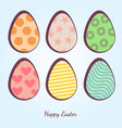 cartoon easter eggs vector image vector image