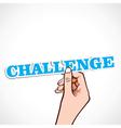 challenge word in hand vector image