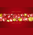 christmas background with horizontal shining vector image vector image