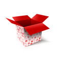 christmas open box new year gift concept vector image vector image