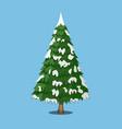 christmas tree cartoon style vector image vector image