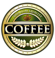 Coffee Green Premium Quality Label vector image vector image