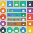 coffee tea icon sign Set of twenty colored flat vector image