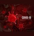 coronavirus covid19-2019 on a red human body vector image