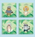 cute animals cartoons vector image vector image