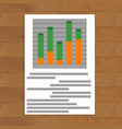 document with layer chart vector image vector image
