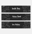 elegant banner templates in black and white colors vector image vector image