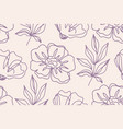 floral seamless pattern with poppies flowers vector image