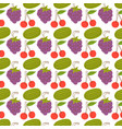 fruit pattern with colorful watermelon cherries vector image