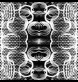 geometric black and white beautiful seamless vector image vector image