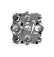 grayscale square with graphic memphis style vector image