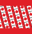 grunge canada flag or banner vector image vector image