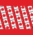 grunge canada flag or banner vector image