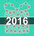 Happy new year 2016 Vintage card Celebration vector image vector image