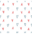 hearts signs seamless pattern vector image vector image