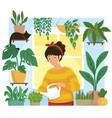 home gardening vector image
