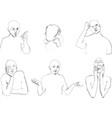 Human body Language in sketching vector image vector image