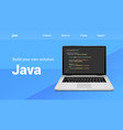 java programming code technology banner java vector image