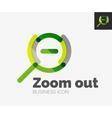Minimal line design logo zoom icon vector image