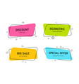 modern banners with geometric shapes label title vector image vector image