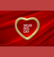 national wear red day holiday vector image