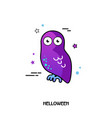 owl icon halloween sticker vector image vector image
