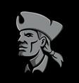 patriot head metallic icon vector image vector image