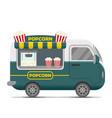 popcorn street food caravan trailer vector image vector image