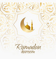 ramadan design light background for greetings card vector image