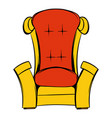 red throne isometric icon cartoon vector image vector image