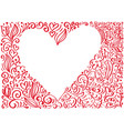 red valentines day frame hand drawn vector image