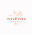 rose and rose abstract sign symbol or logo vector image
