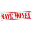 save money sign or stamp vector image