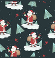 seamless pattern with santa claus and birds for vector image