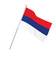 serbia national flag vector image vector image