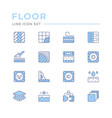 set color line icons floor vector image