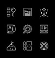 set line icons seo vector image vector image