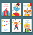 set of birthday card set of birthday card vector image vector image