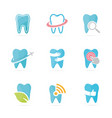 set of tooth logo combination dental and oral vector image