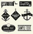 Set of vintage styled design Hipster logo vector image vector image