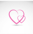 simple hearts icon with lines representing love vector image