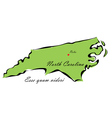State of North Carolina vector image